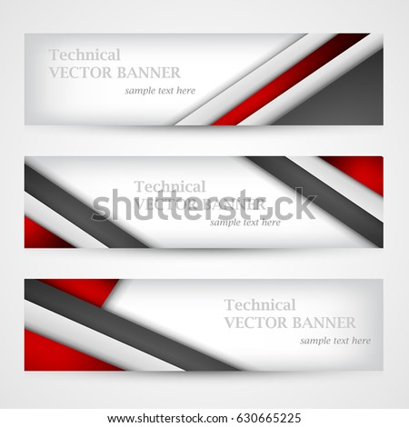 Set Banners Lines Paper Business Design Stock Photo (Photo, Vector ...