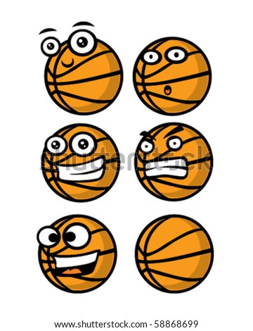 set of basket ball's - stock vector