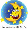 set of batch vector crazy moon - stock vector