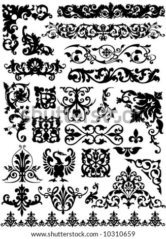 set of beautiful vector design elements - stock vector
