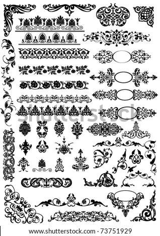 set of beautiful vector design elements - stock vector