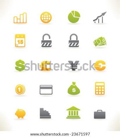Set of beautiful vector web icons vol.3 Finance - stock vector