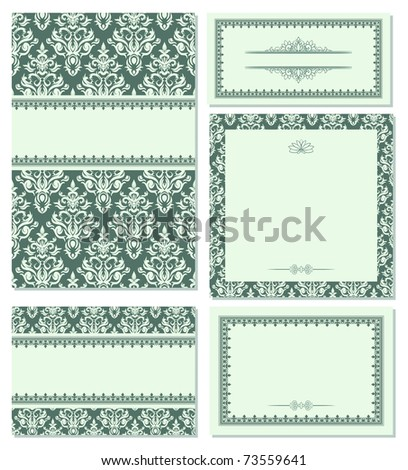 Set of beauty frames. Could be used as wedding invitation - stock vector