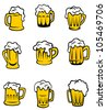 Set of beer glasses for alcohol beverage design, such logo. Jpeg version also available in gallery - stock vector