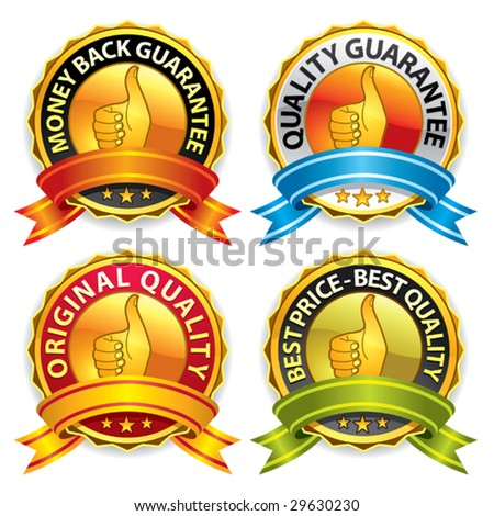 Set of best price and quality guaranteed seals. More vectors in my portfolio. - stock vector