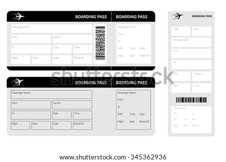set of black tickets isolated. vector illustration - stock vector