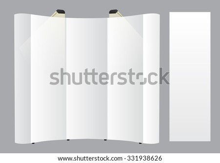 Set of blank Backdrop display template isolated on gray background. Vector illustration. Mock up for design