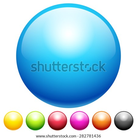 Set of blank circles with space in various colors. vector elements. - stock vector