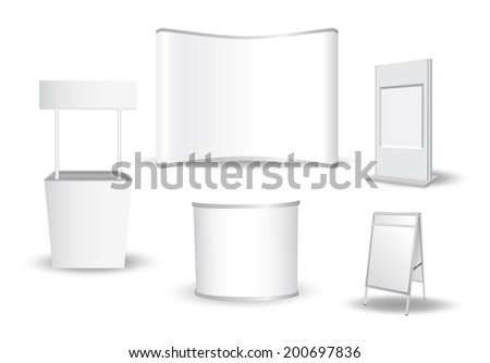 Set of blank exhibition stand vector - stock vector