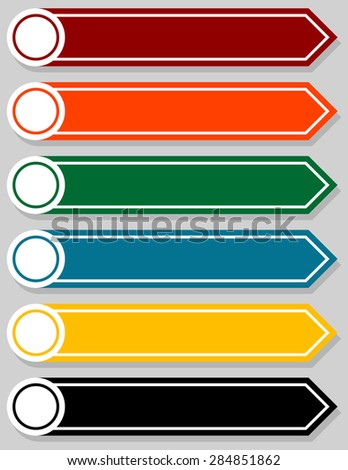Set of Blank Infographic Pointers - stock vector