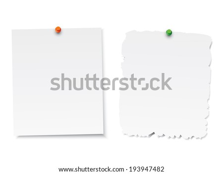 Set of blank paper - stock vector