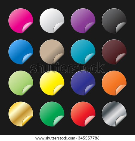 Set of blank stickers. Promotional labels. Vector illustration