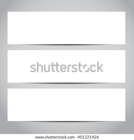 Set of blank vector banners design templates or website headers. Vector design illustration EPS10 - stock vector