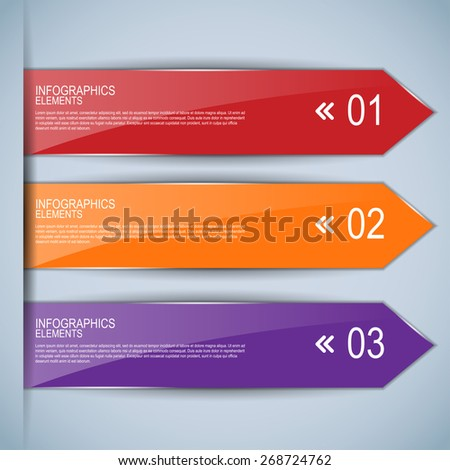 Set of bookmarks, stickers, labels, tags - stock vector