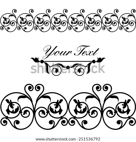 Set of borders, design elements, greeting card. Vector. - stock vector
