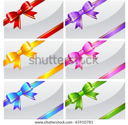Set of bows - stock vector