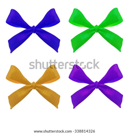 Set of bows. VECTOR. 4 bows (6)