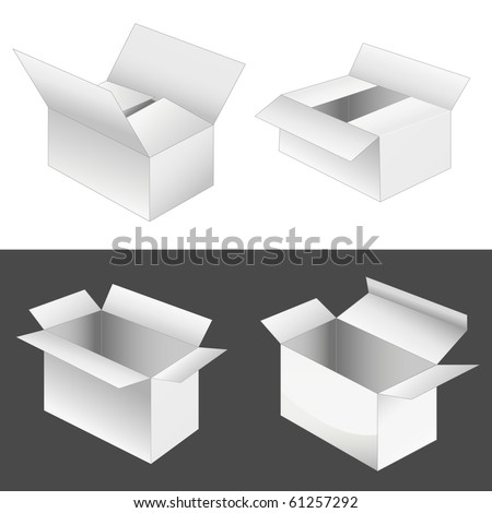 set of 4 boxes. vector illustration - stock vector