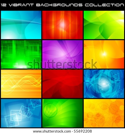 Set of bright abstract backgrounds. Vector design eps 10
