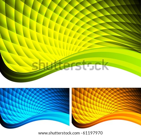 Set of bright abstract banners (eps 10) - stock vector