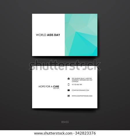 Business card vector background stock vector 200640317 for Hiv aids brochure templates