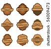 Set of brown labels for design food and beverages. Jpeg version also available in gallery - stock vector