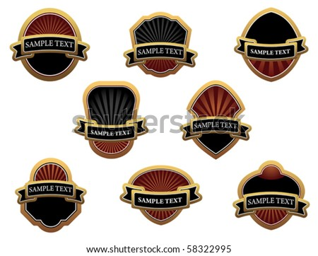 Set of brown labels. Jpeg version also available in gallery - stock vector