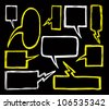 set of bubble speech doodle - stock vector