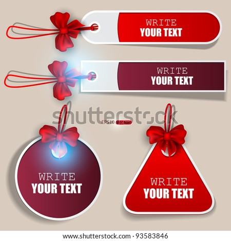 Set of bubbles, stickers, labels, tags. Vector illustration - stock vector
