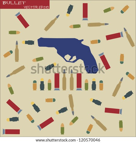 Set of Bullet in retro style - stock vector