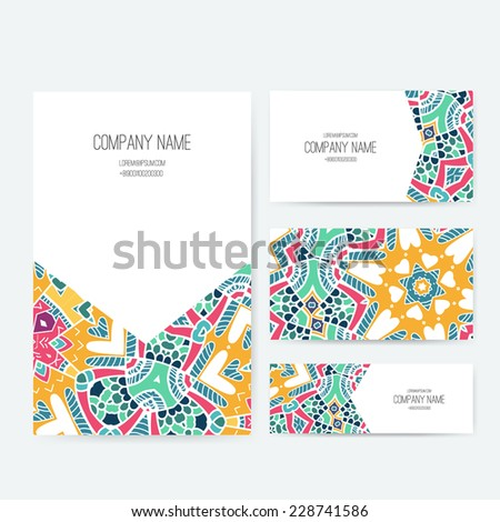 Arabic names stock images royalty free images vectors set of business card and invitation card templates with lace ornament vector background indian stopboris Gallery