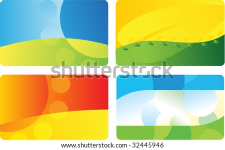 Set business card backgrounds stock vector 32445946 shutterstock set of business card backgrounds colourmoves