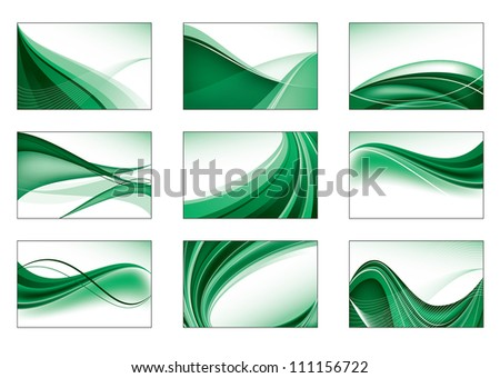Set of Business Card Templates. - stock vector