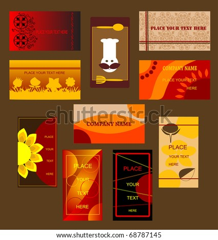 Set of business cards 2 - stock vector