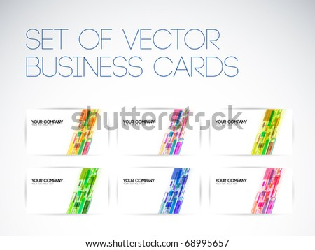 Set of business cards - stock vector