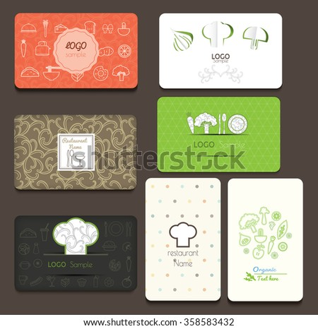 Set business cards cafe restaurant vector stock vector 358583432 set of business cards for cafe and restaurant vector illustration reheart Choice Image