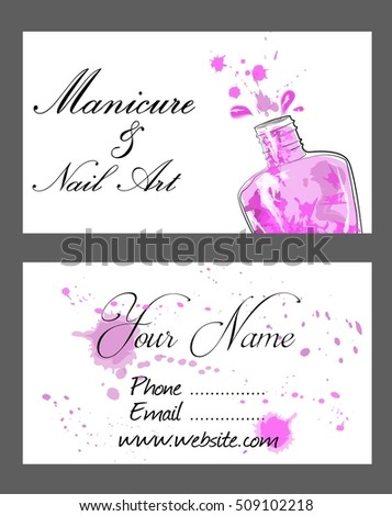 Set business cards manicure nail art stock vector royalty free set of business cards for manicure and nail art colourmoves