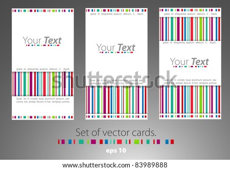 Set of business cards. Visiting-cards - stock vector