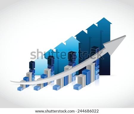 set of business graphs illustration design over a white background - stock vector
