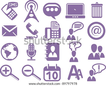 Set of business icons - stock vector