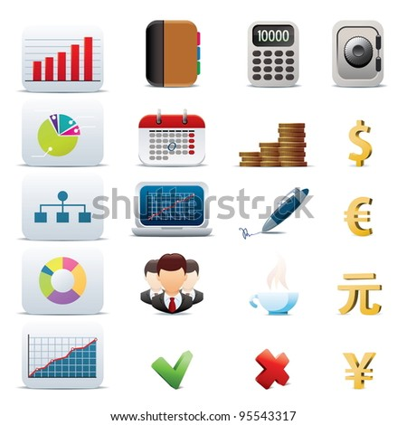 Set of 20 business icons - stock vector