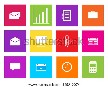 Set of business icons. Vector illustration. - stock vector