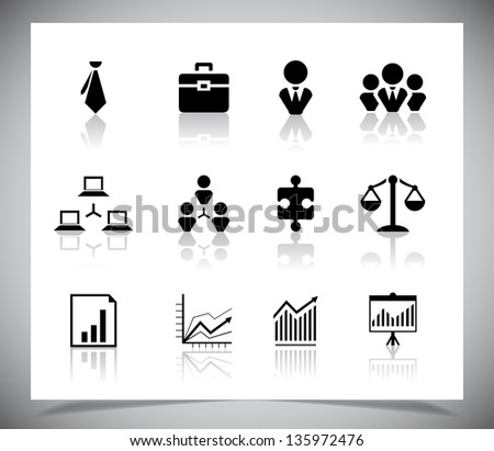 Set of business icons, Vector illustration eps10 - stock vector