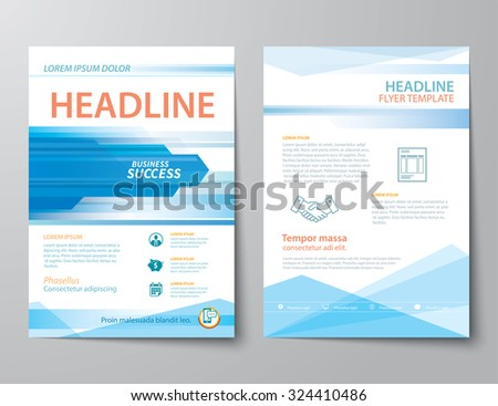 set of business magazine cover , flyer, brochure flat design templates - stock vector