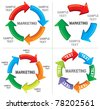 Set of Business process diagrams (graph path) - stock photo