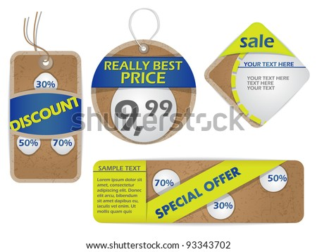 set of business related labels - stock vector