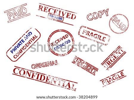Set of business stamps - stock vector