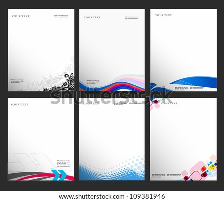 set of business style templates, Vector illustration - stock vector