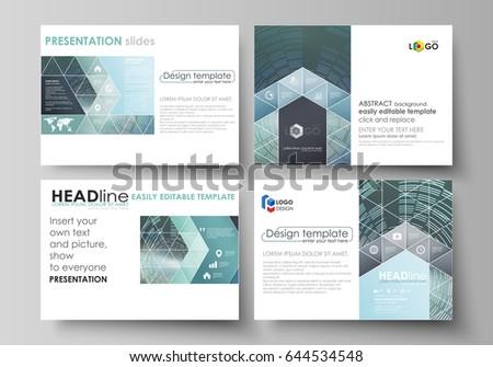 Set Business Templates Presentation Slides Easy Stock Vector ...