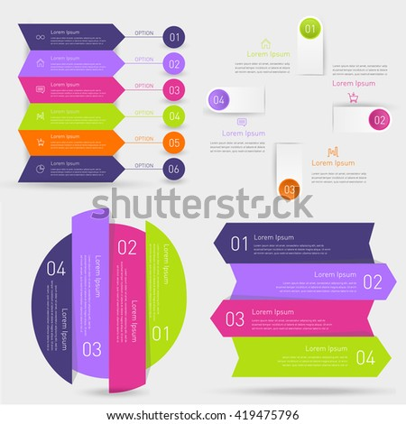 Set of business timeline element for Infographic. Easy to use for your business projects templates for presentation and training. Simple Editable Graphic infographics elements. Vector illustration. - stock vector